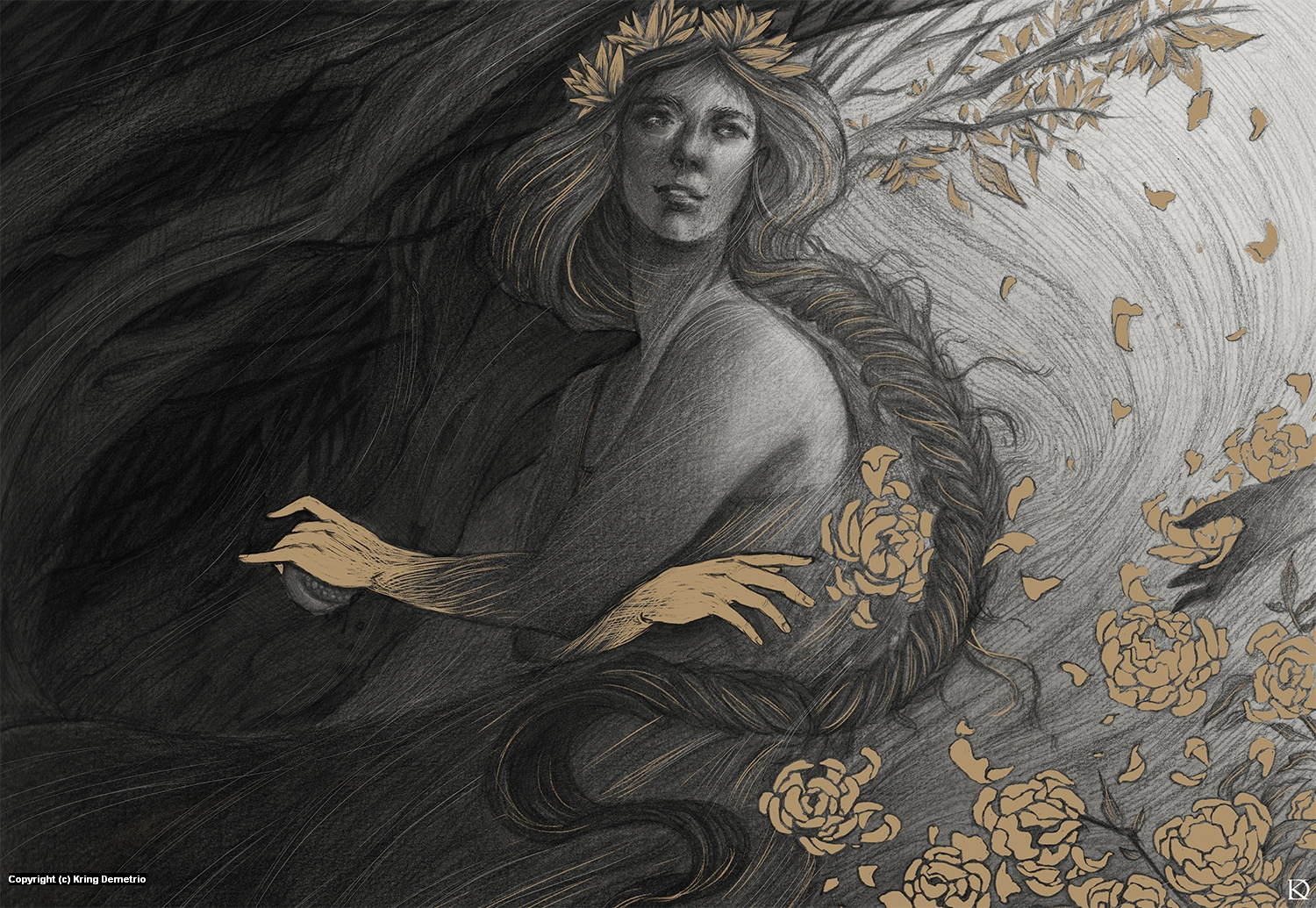 Persephone Artwork by Kring Demetrio