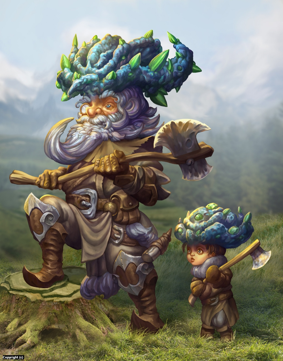 Woodcutters Artwork by Luka Brico