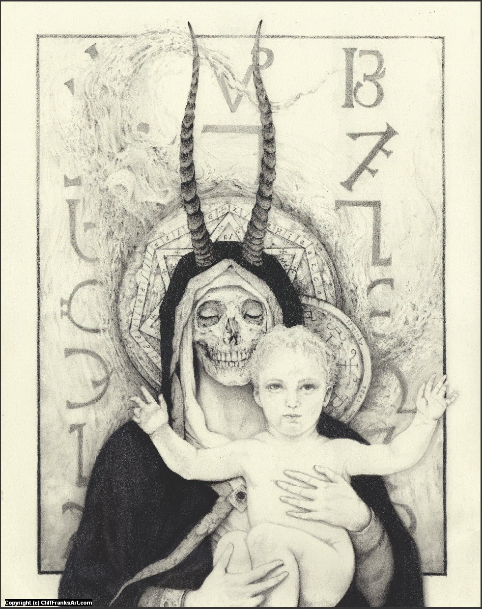 Madonna of the Theurgy Artwork by Cliff Franks