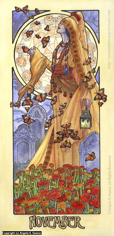 Lady of November Artwork by Angela Sasser