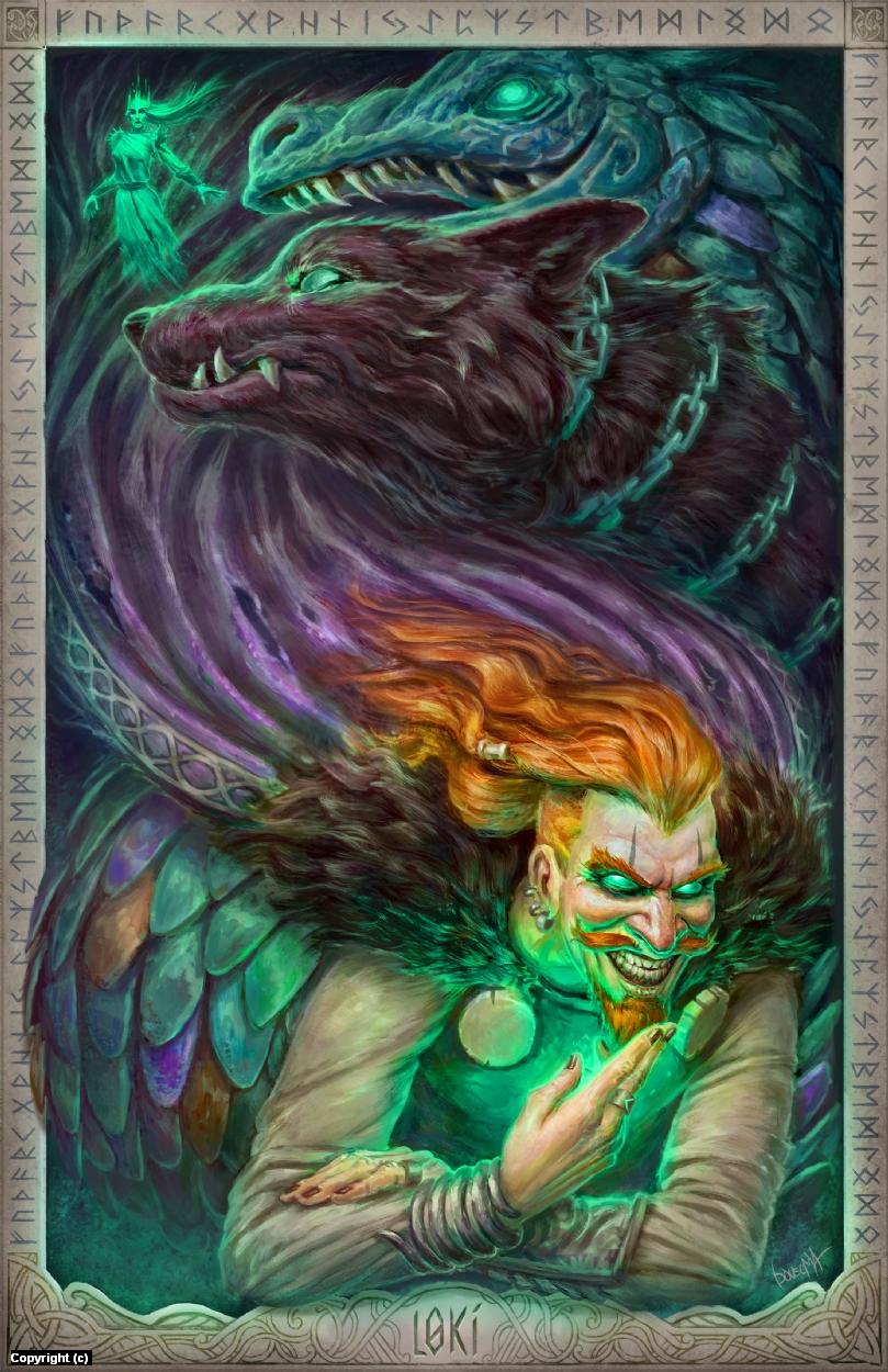 Loki and his children Artwork by James Bousema