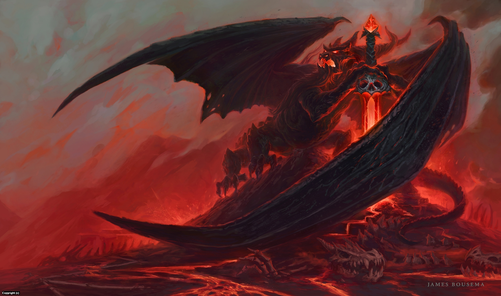 Dragonlord Artwork by James Bousema