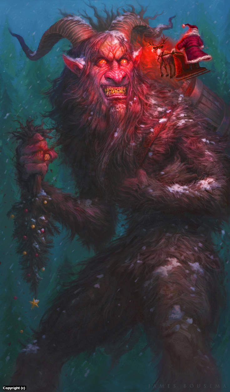 Krampus Artwork by James Bousema