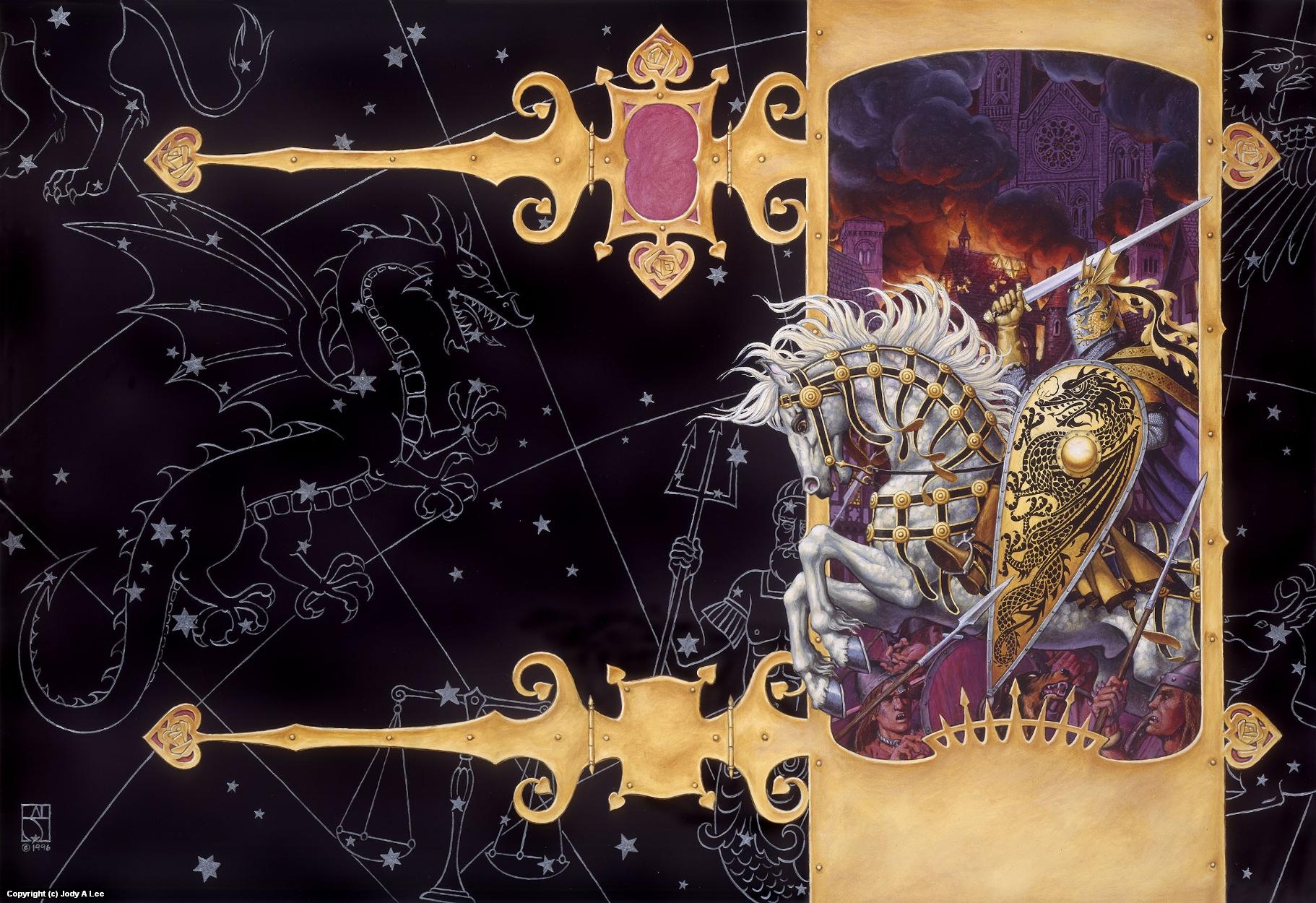 King's Dragon Artwork by Jody Lee
