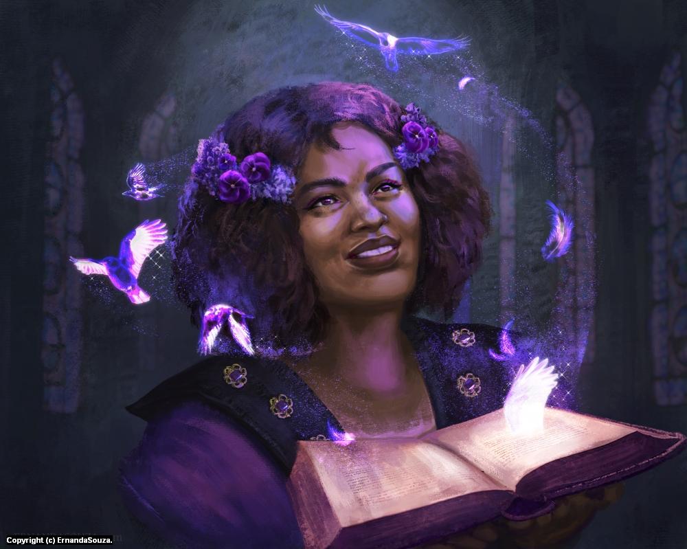 Raven's Spell Artwork by Ernanda Souza