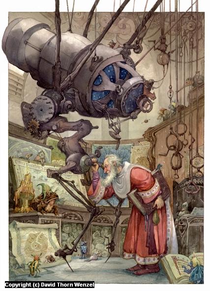 Bafflerog's Telescope Artwork by David Wenzel