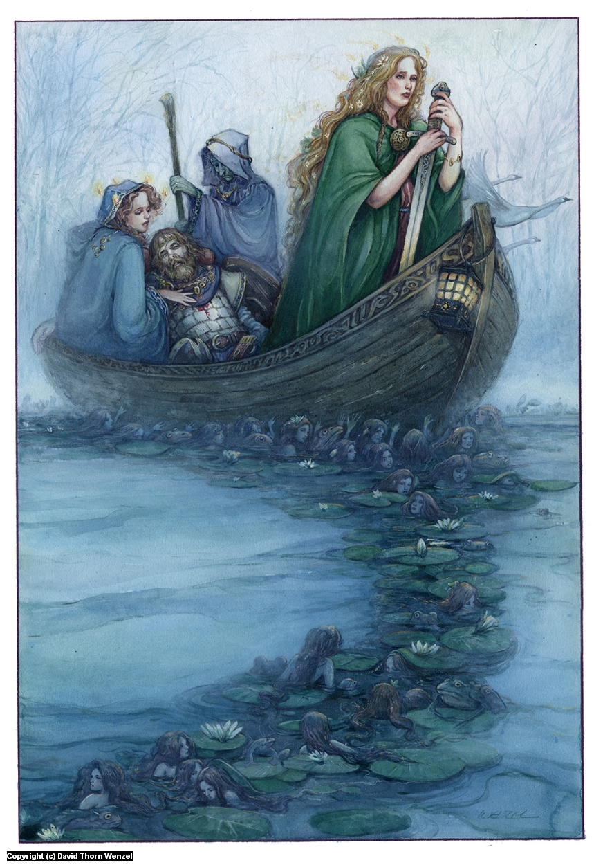 Death of Arthur, Avalon Artwork by David Wenzel