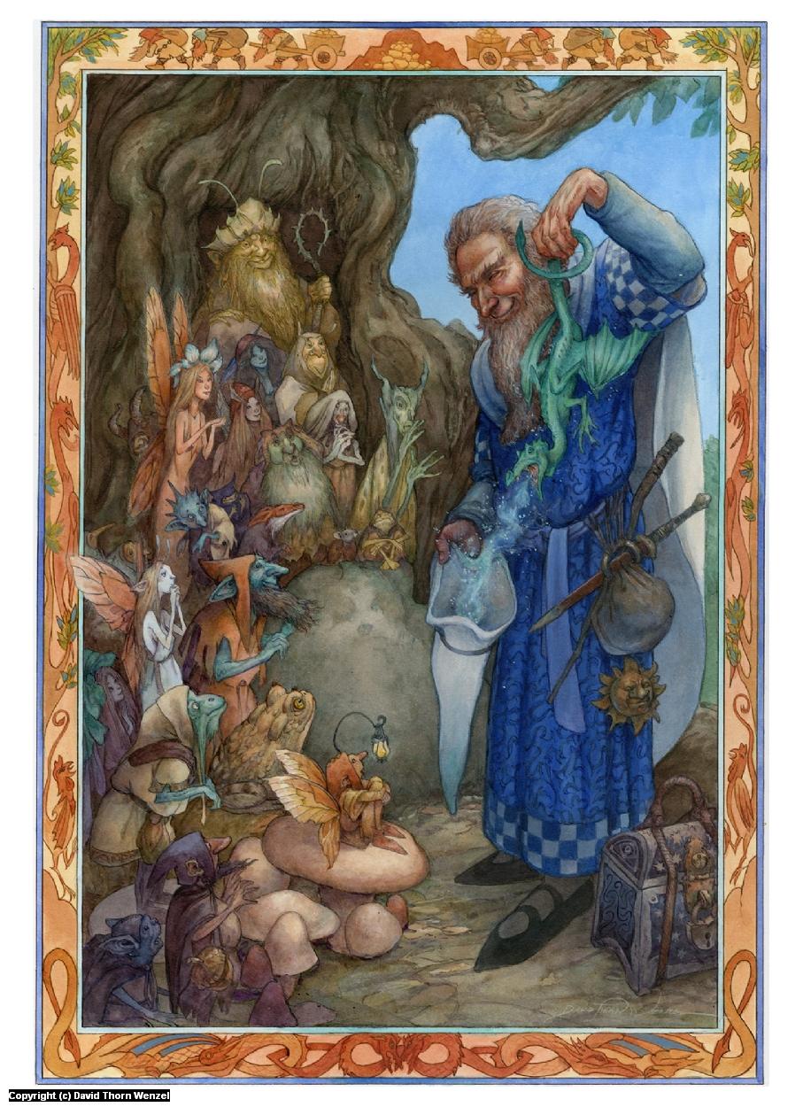 Conjuring a Dragon Artwork by David Wenzel