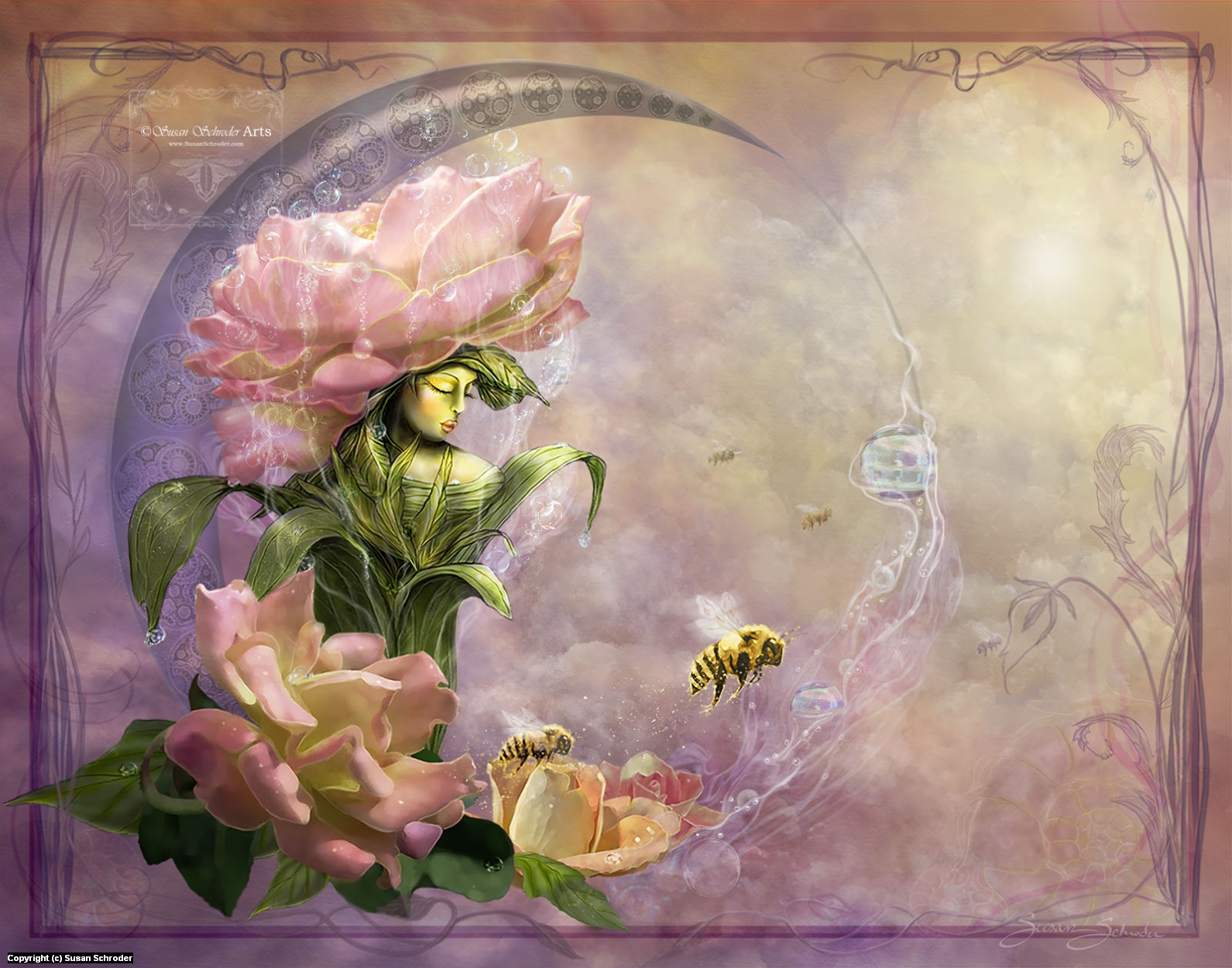 What Dreams a Rose? Artwork by Susan Schroder