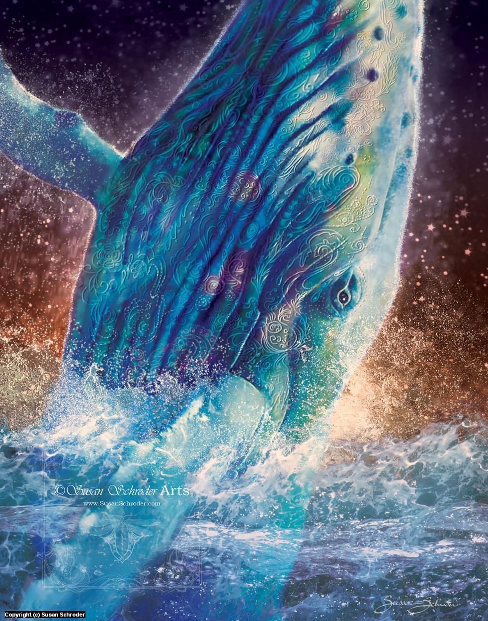Mystic Whale Artwork by Susan Schroder