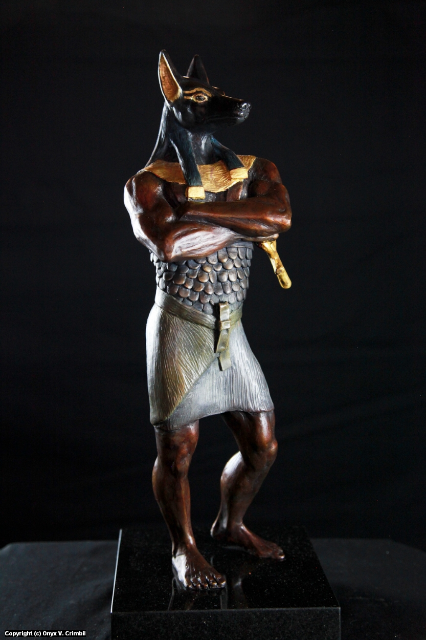 Anubis Artwork by Onyx V. Crimbil