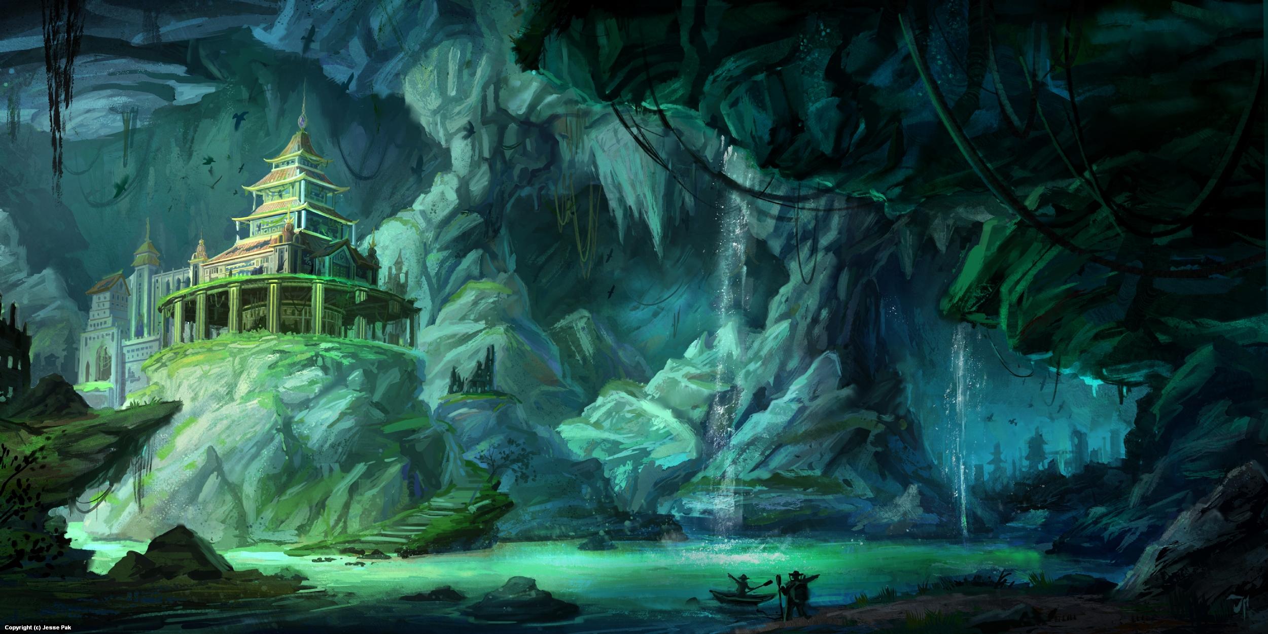 Cavern Ruins Artwork by Jesse Pak