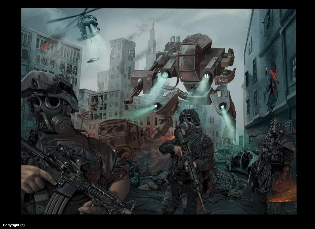 Seek and destroy Artwork by Stefan  Petrov