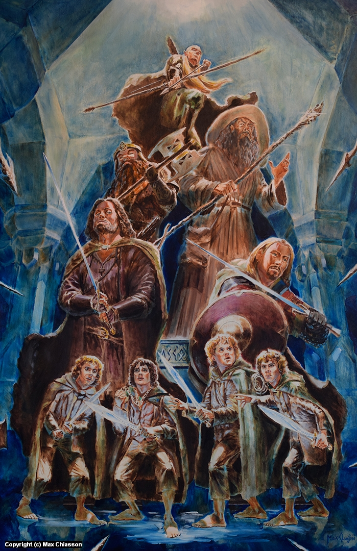 The Fellowship of the Ring 24 x 36 Artwork by Max Chiasson