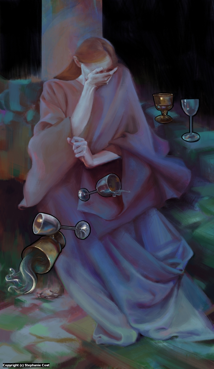 5 of Cups Artwork by Stephanie Cost