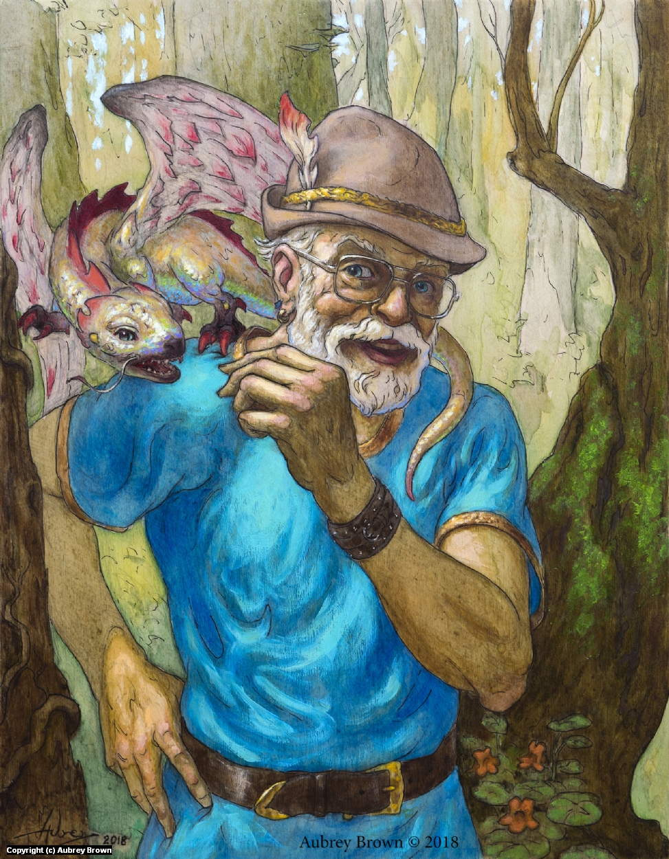 George the Dragon Whisperer Artwork by Aubrey Brown