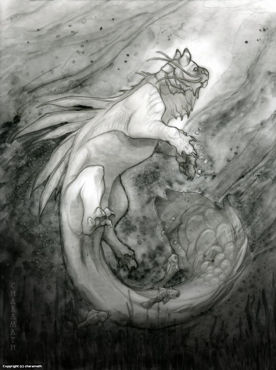 Dark Mythos: Mishipeshu Artwork by Audre Schutte