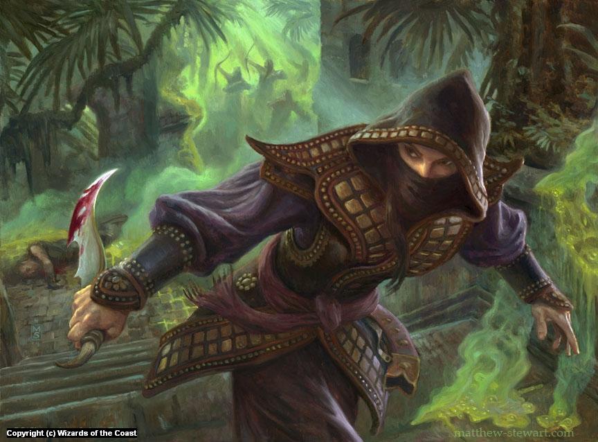 Hooded Assassin Artwork by Matthew Stewart