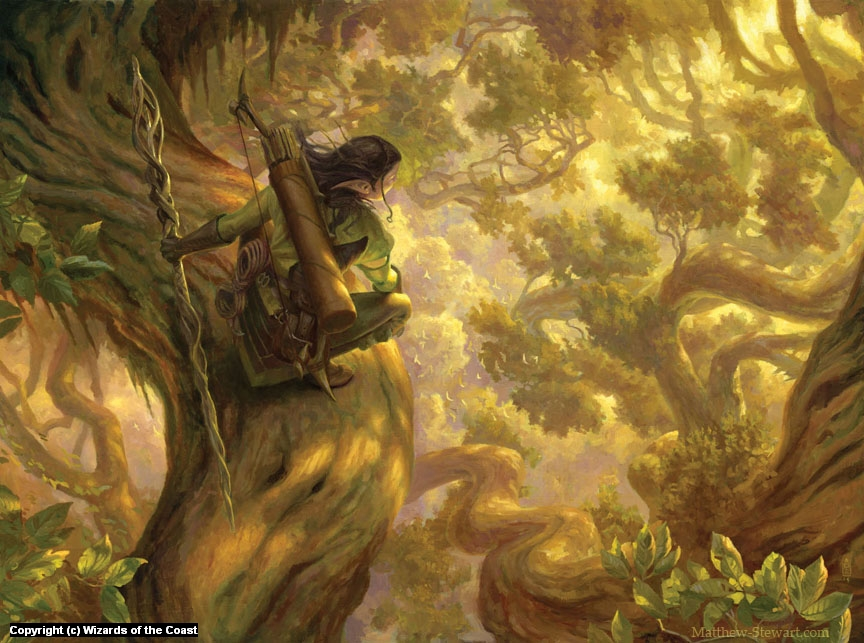Nissa's Pilgrimage Artwork by Matthew Stewart