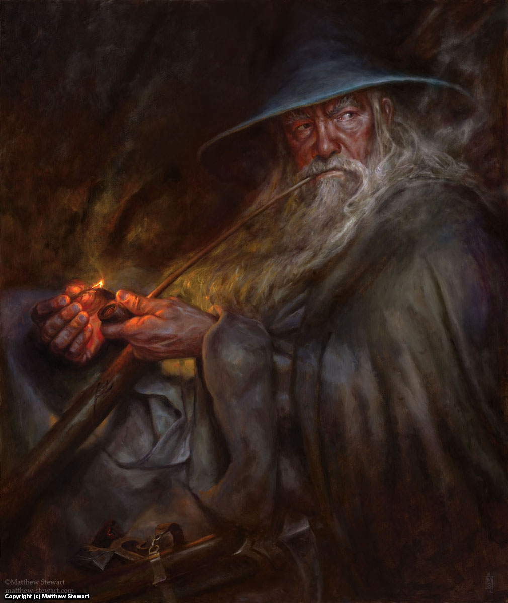 Gandalf-A Light in the Dark Artwork by Matthew Stewart