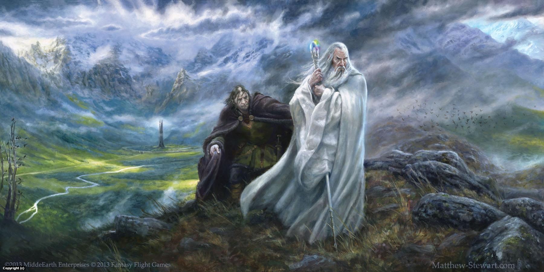 The Voice of Isengard Artwork by Matthew Stewart