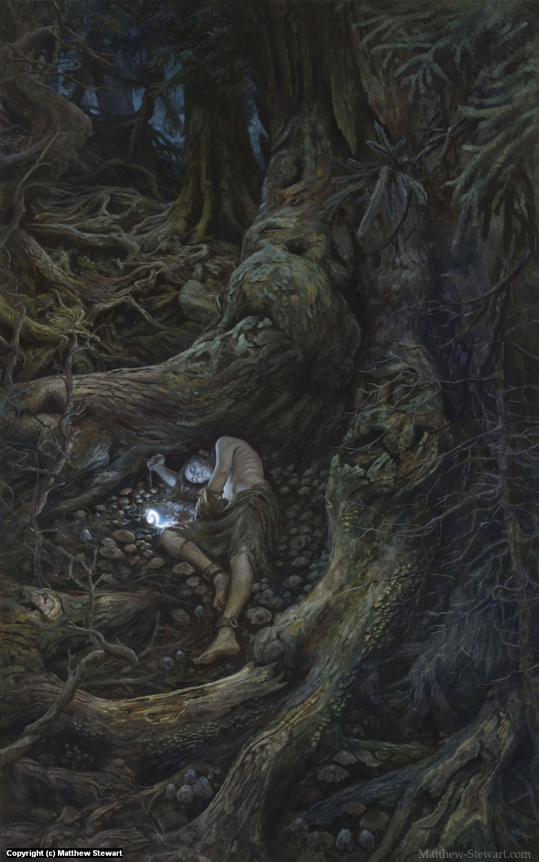 In the Forest Under Night: Gwindor in Taur Nu Fuin Artwork by Matthew Stewart
