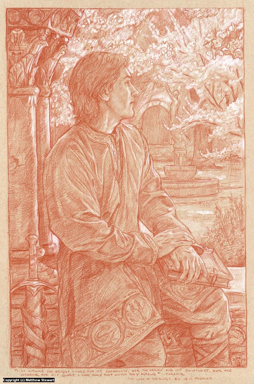 Faramir Artwork by Matthew Stewart