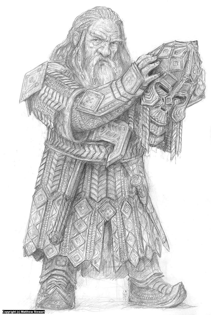 A Knight of Azaghal Artwork by Matthew Stewart