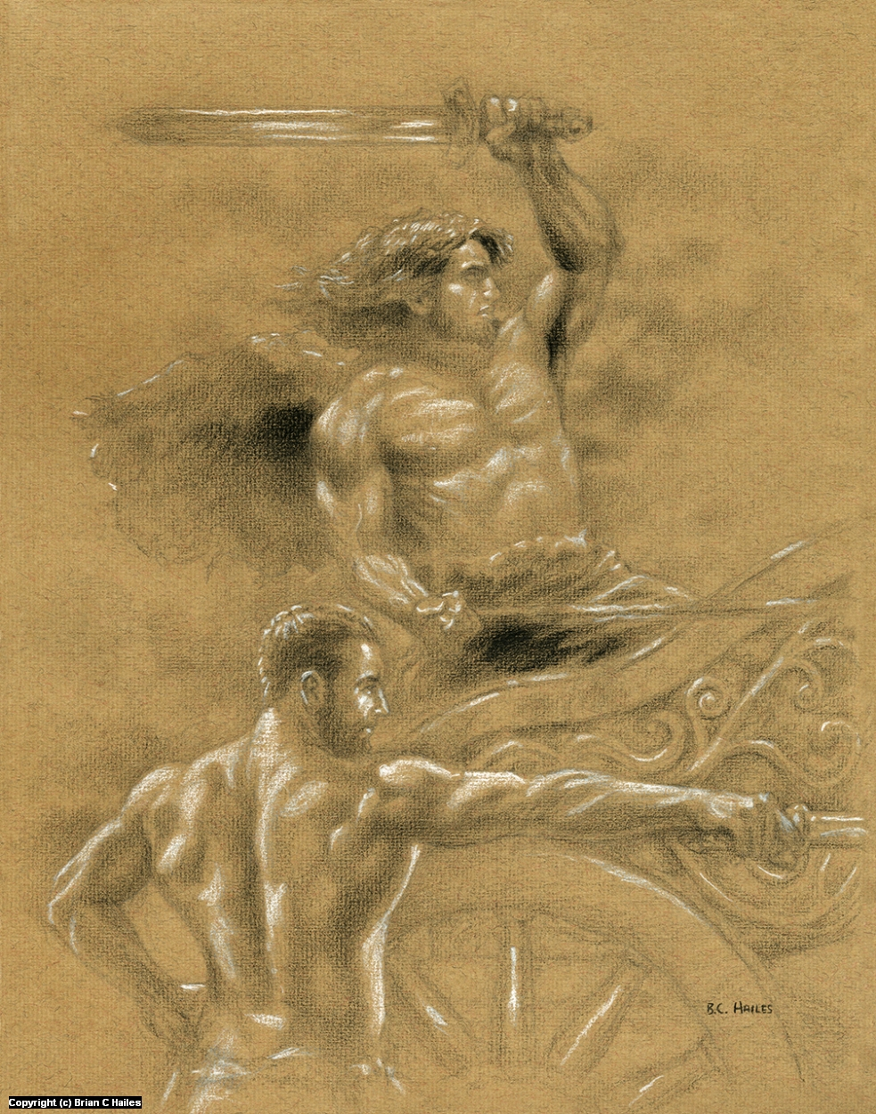 The Chariot Artwork by Brian C Hailes