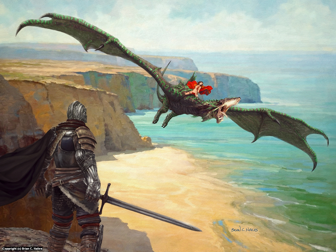 Cliff Dragon Artwork by Brian C. Hailes