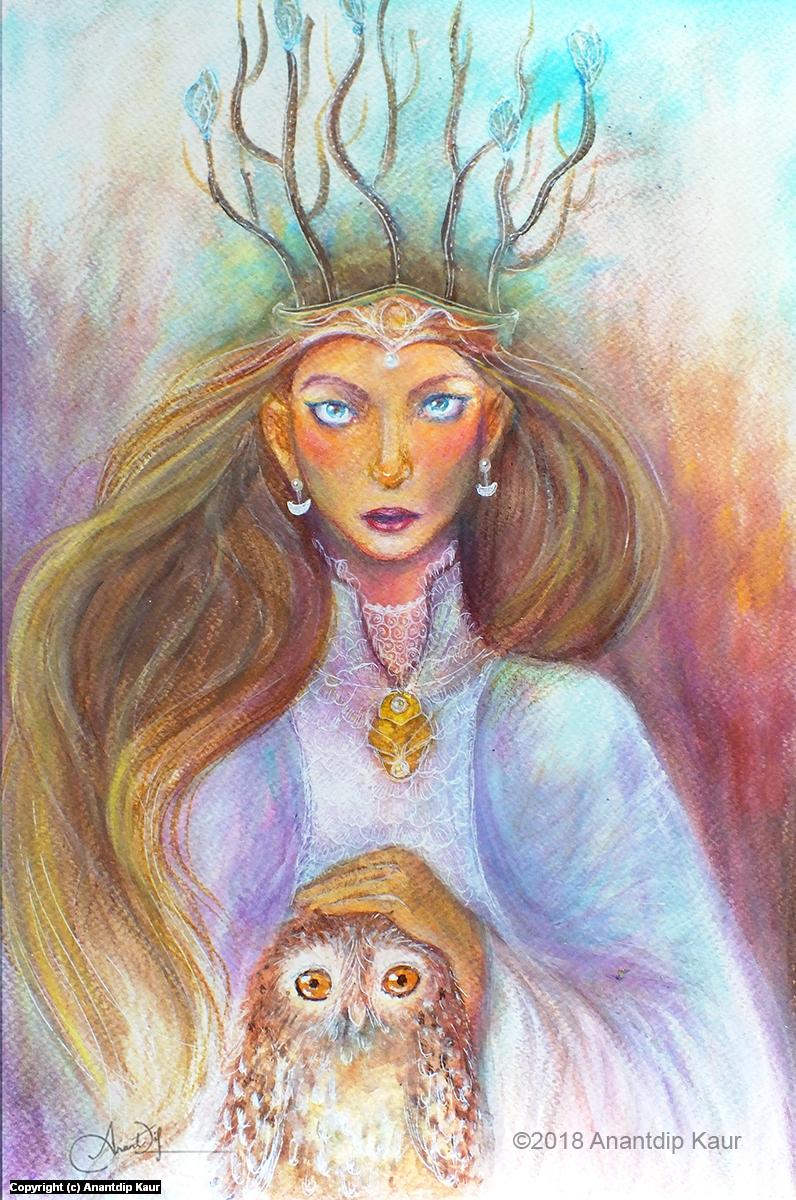 Queen of Woods Artwork by Anantdip Kaur