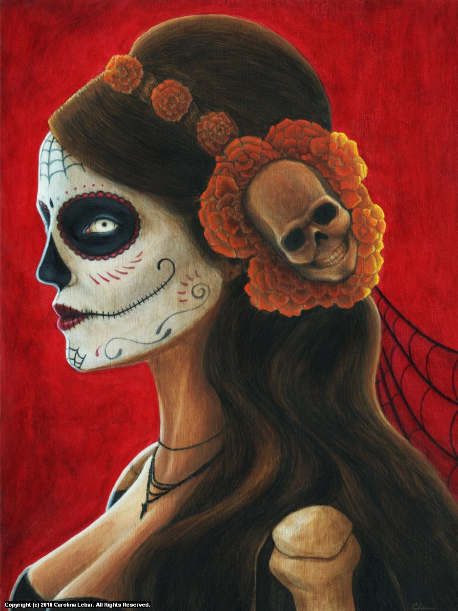 Señora de lost Muertos Artwork by Carolina Lebar