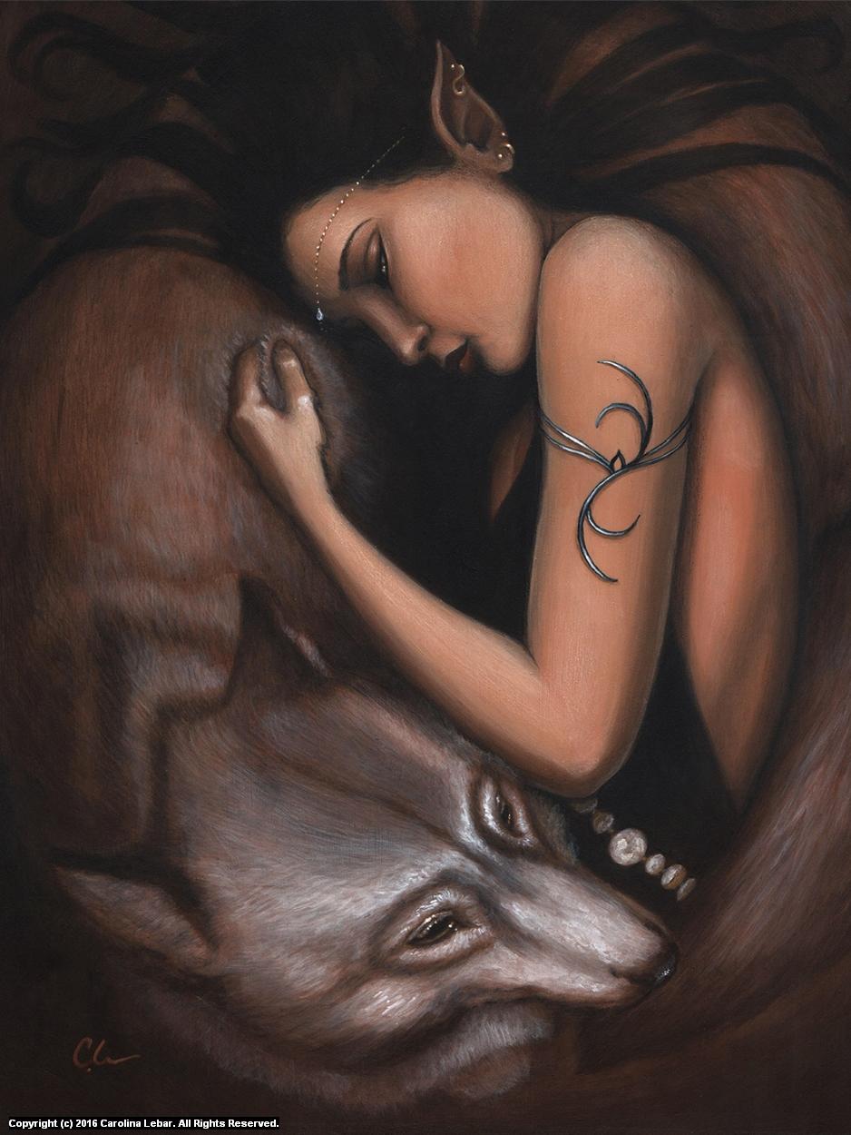 Knight and Dae Artwork by Carolina Lebar