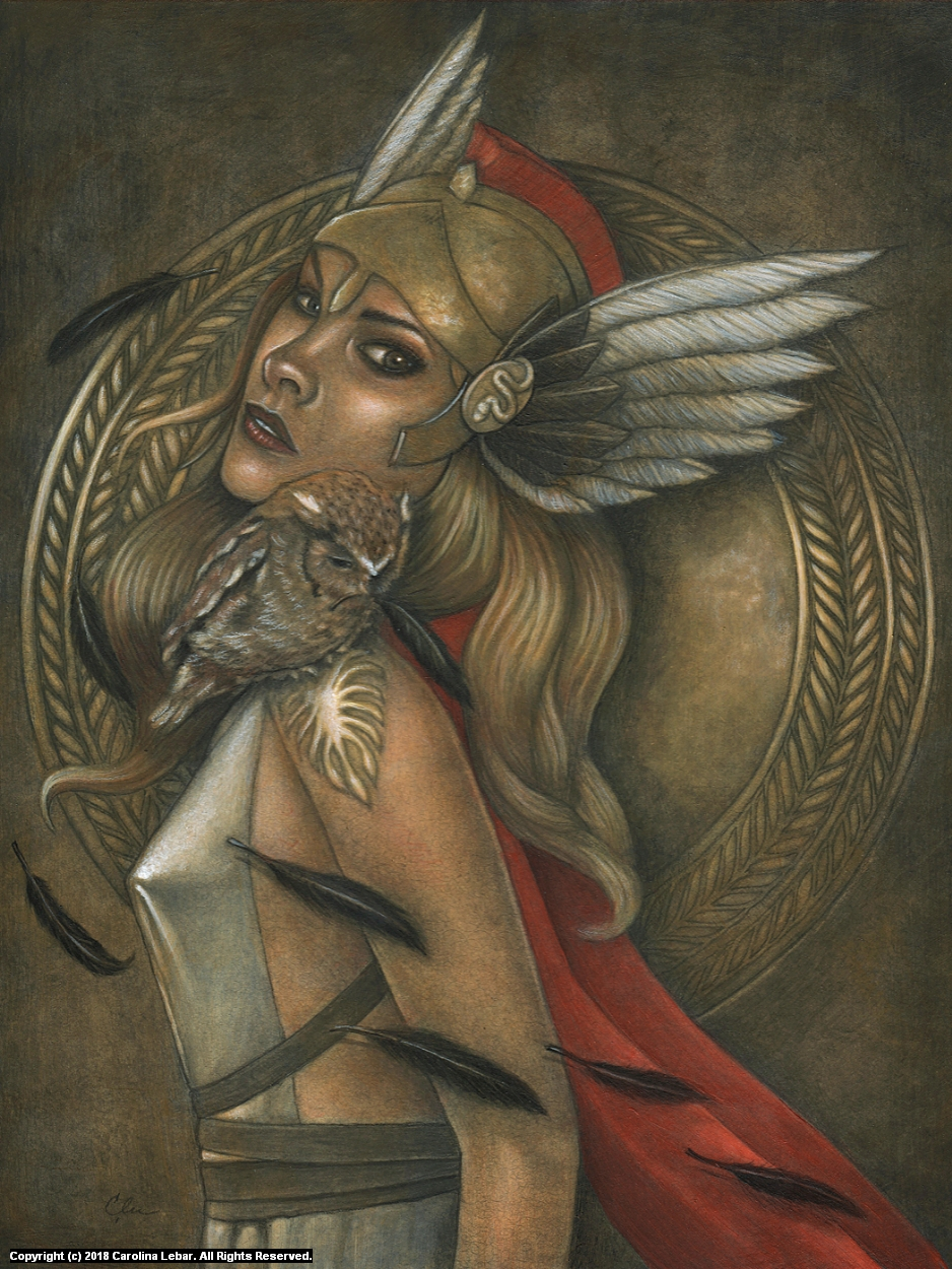 Athena Artwork by Carolina Lebar