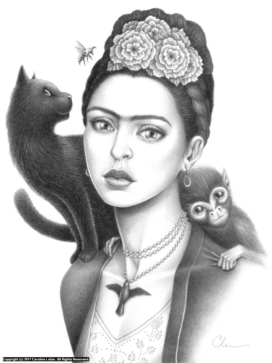 Frida Artwork by Carolina Lebar