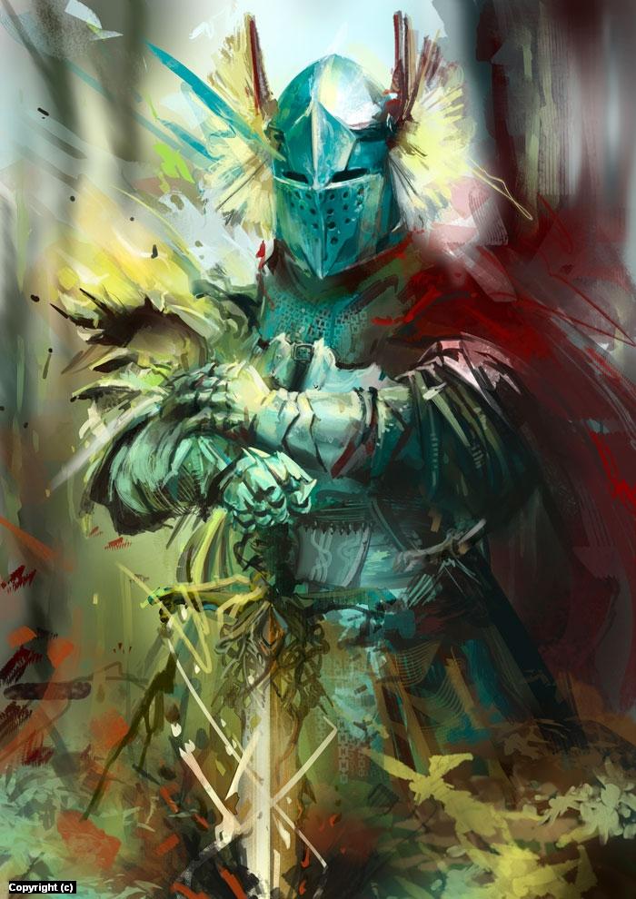 Knight Trouble Artwork by Alba Palacio