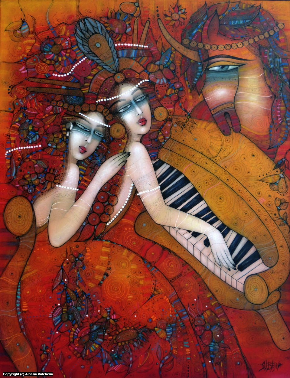 AT THE OPERA Artwork by Albena Vatcheva