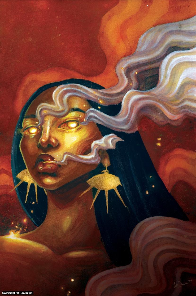 Firebird Woman Artwork by Lee Dawn