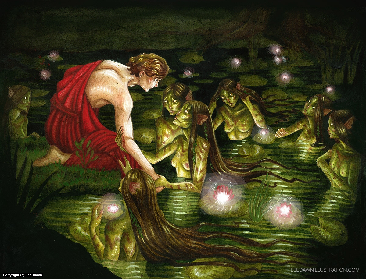 Hylas and the Nymphs, Reimagined Artwork by Lee Dawn
