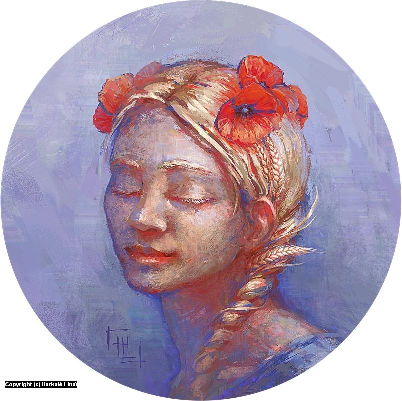 Blonde comme les blés Artwork by Harkalé Linaï