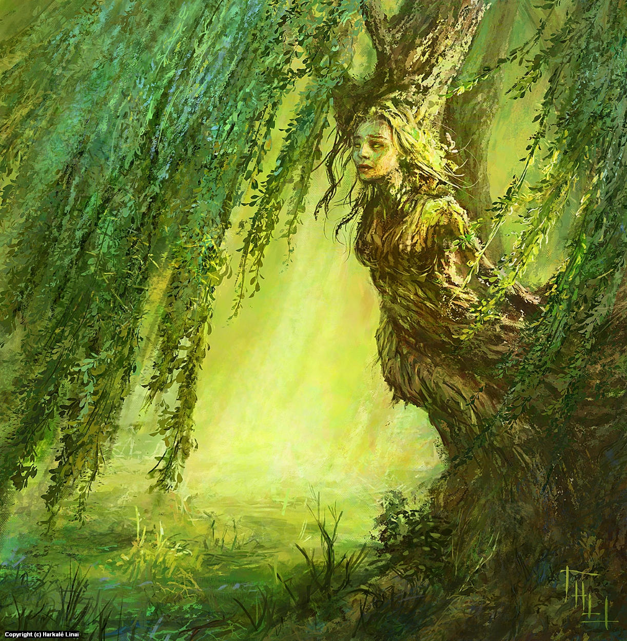 Weeping Dryad Artwork by Harkalé Linaï