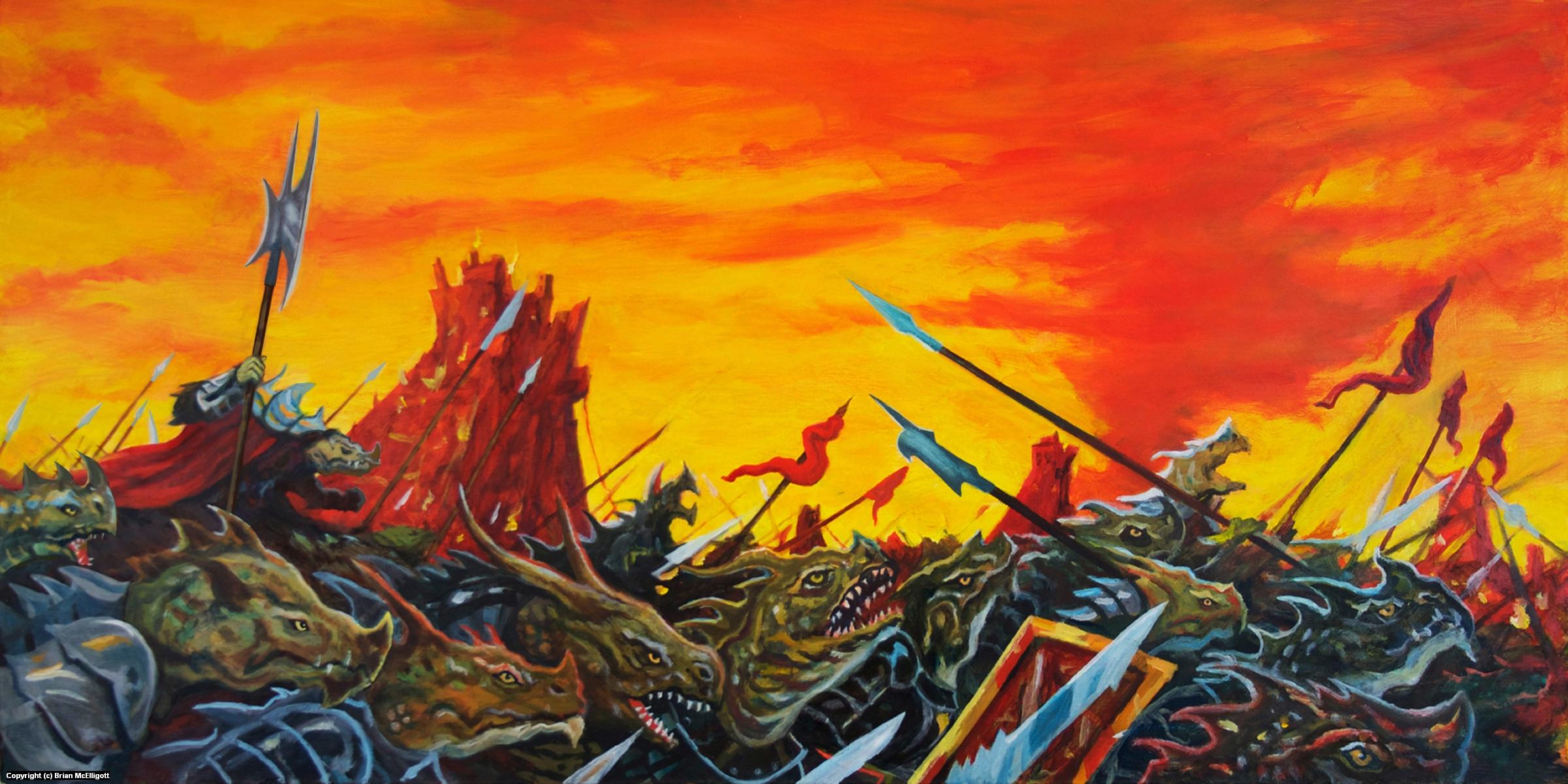 March of the Lizardfolk Artwork by Brian McElligott