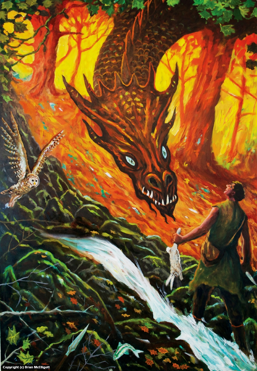 The Dragon's Woods Artwork by Brian McElligott