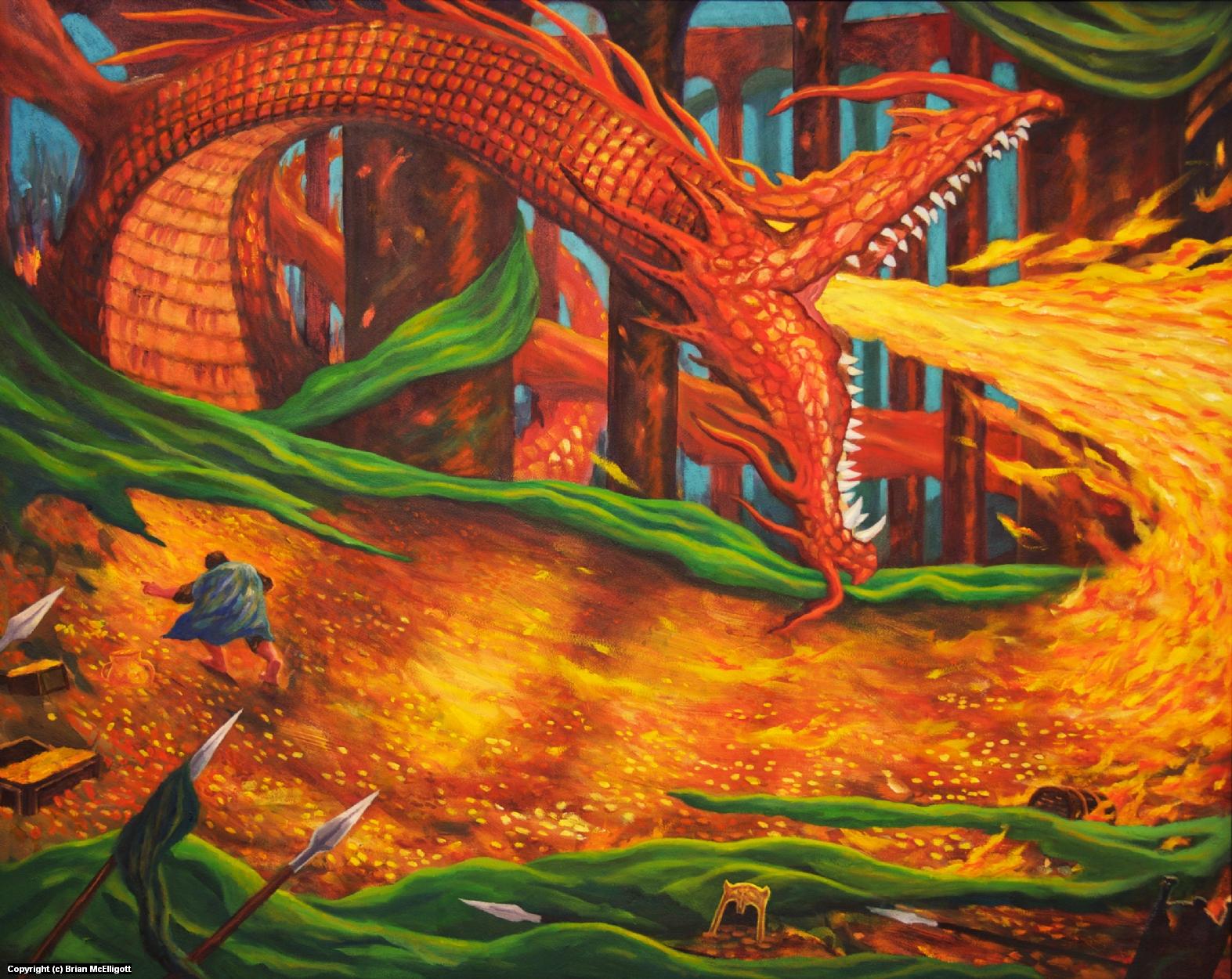 Smaug Artwork by Brian McElligott