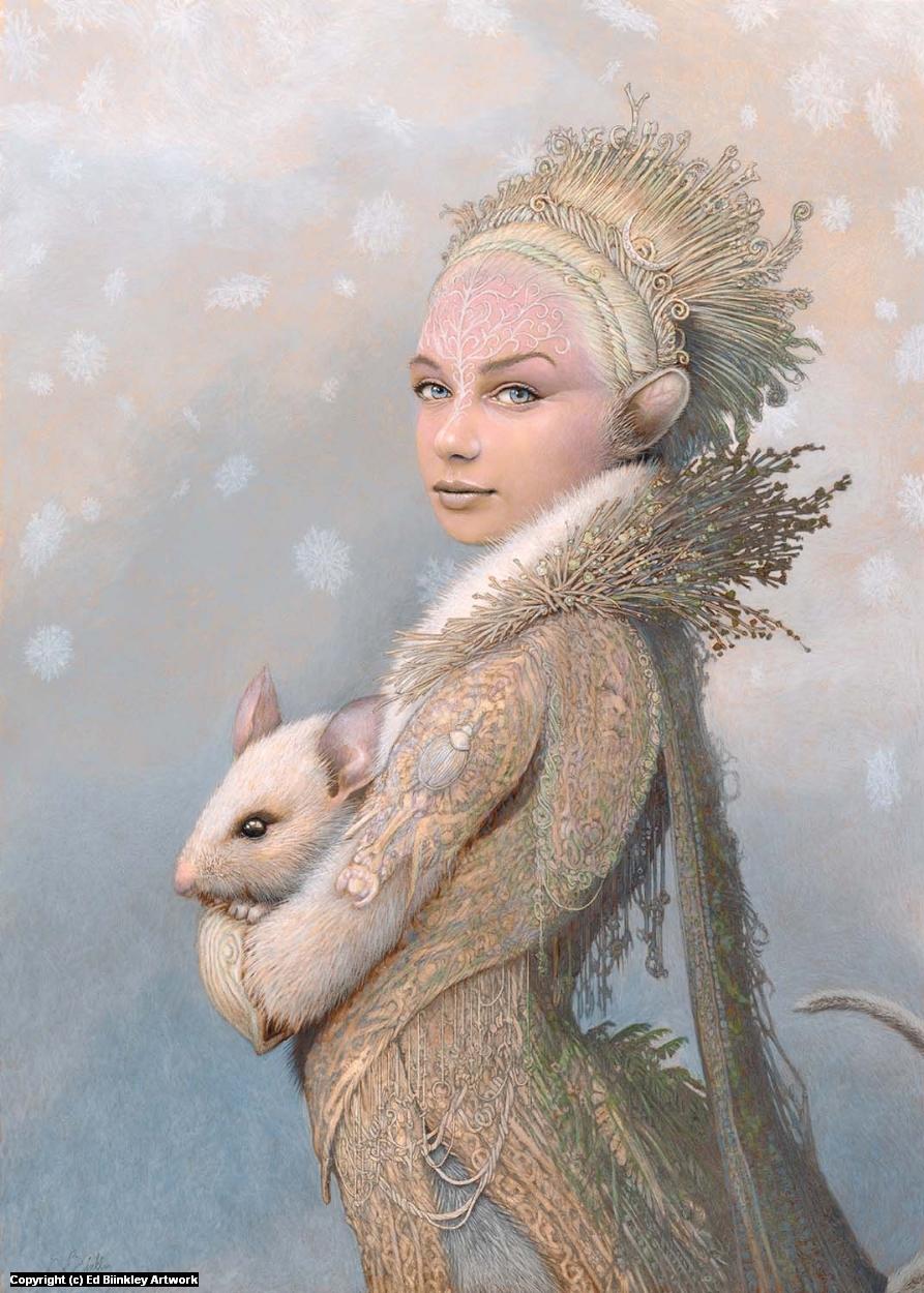 Winter Mouse  Artwork by Ed Binkley
