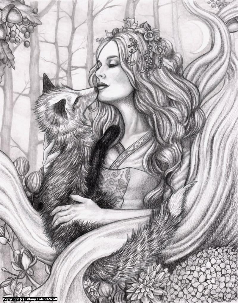 Fox Familiar Artwork by Tiffany Toland-Scott