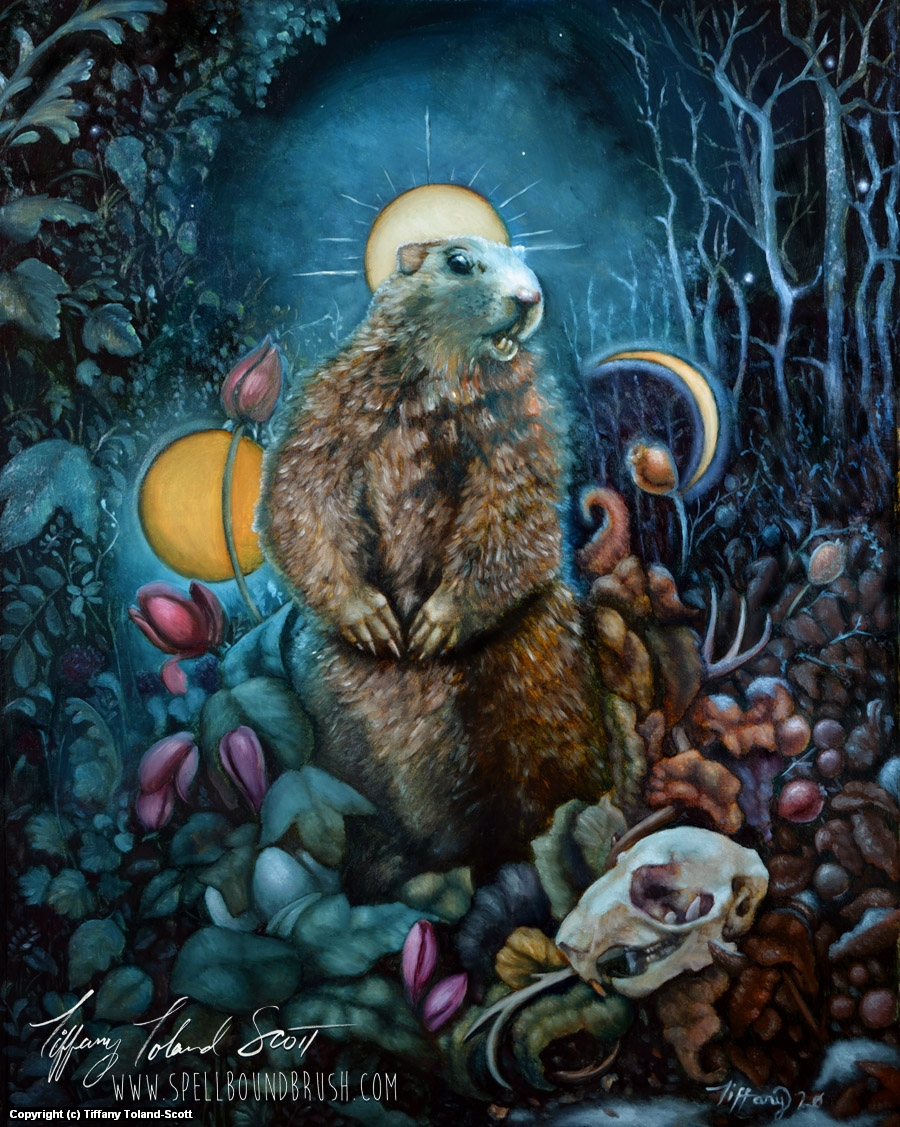 Invocation of the Groundhog Artwork by Tiffany Toland-Scott