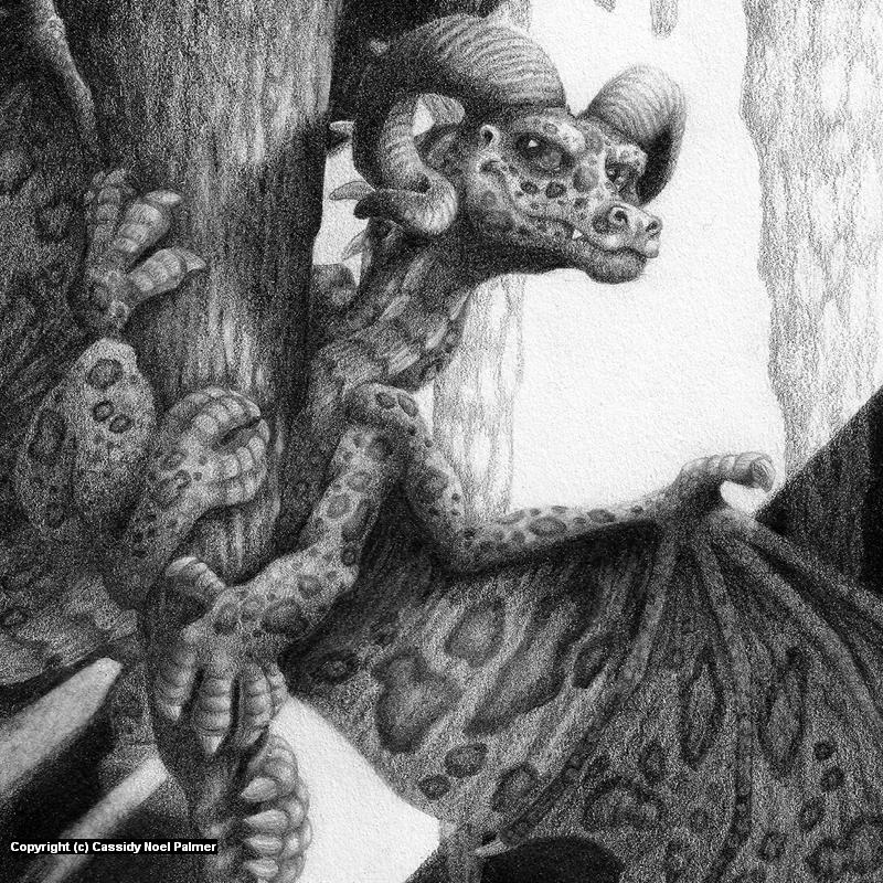Zoisite - Dragonlings Series Artwork by Cassidy Noel Palmer