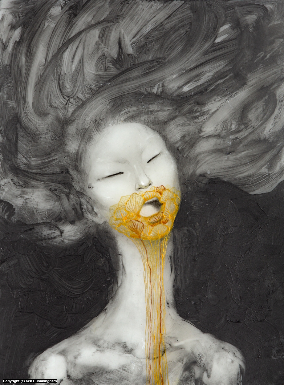 The flowers I imagine to be her voice Artwork by Ken Cunnningham