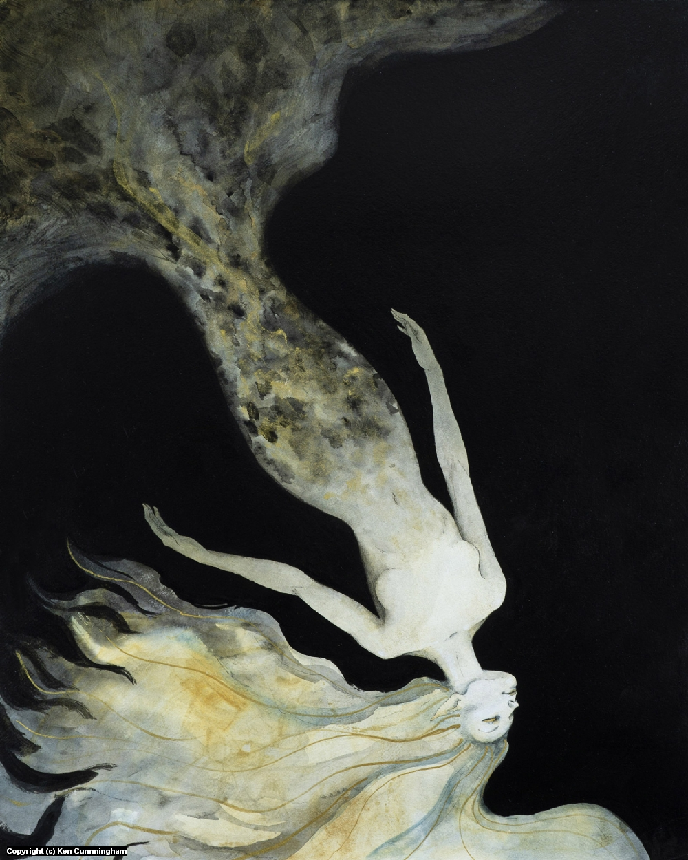 Upwards into darkness Artwork by Ken Cunnningham